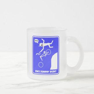 BMX JUMPIN'-22 FROSTED GLASS COFFEE MUG