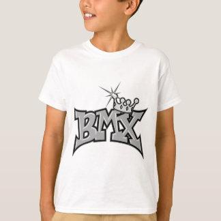 BMX king text design grayscale T-Shirt