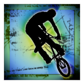 BMX Mountain Biking Poster