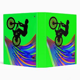 BMX on a Rainbow Road 3 Ring Binder