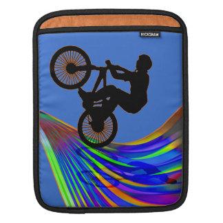 BMX on a Rainbow Road iPad Sleeve