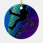 BMX on Fractal Movie Marquee Christmas Ornament