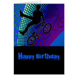 BMX on Fractal Movie Marquee Greeting Cards