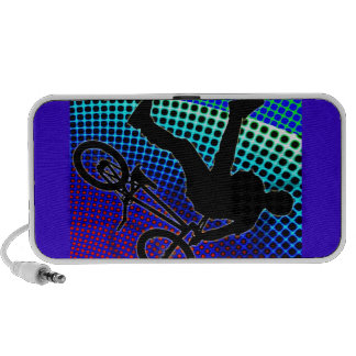 BMX on Fractal Movie Marquee Mini Speaker