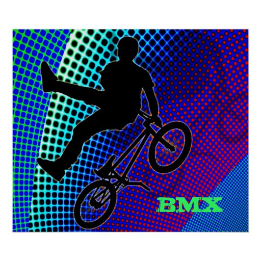 BMX on Fractal Movie Marquee Poster