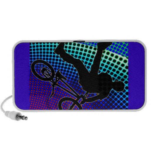 BMX on Fractal Movie Marquee Travel Speaker