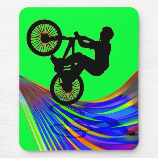 BMX on Rainbow Road Mousepads