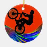 BMX on Rainbow Road Ornament