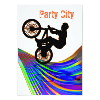 BMX on Rainbow Road Party Card
