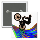 BMX on Rainbow Road Pinback Buttons