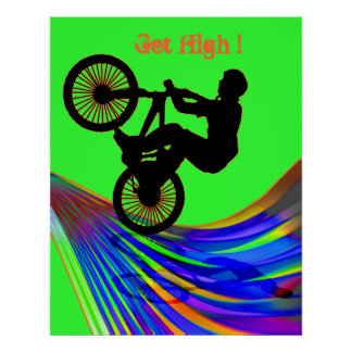 BMX on Rainbow Road Poster