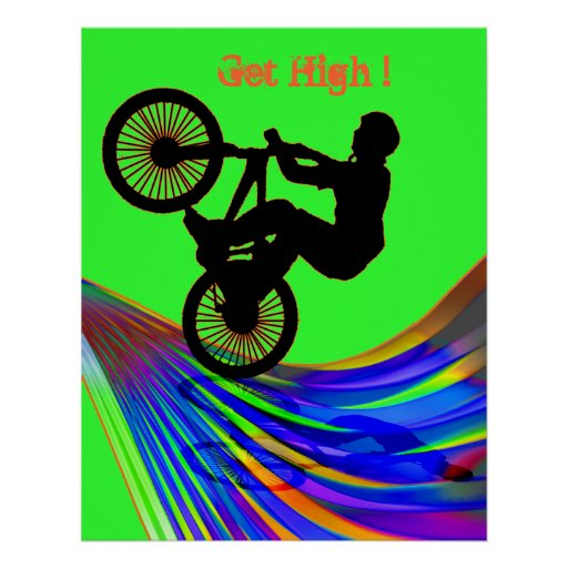 BMX on Rainbow Road Posters