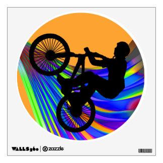 BMX on Rainbow Road Wall Decal