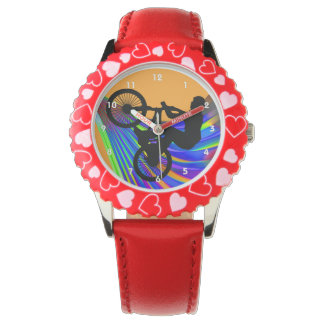 BMX on Rainbow Road Wristwatch