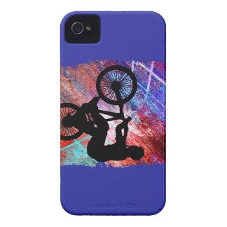 BMX on Rusty Grunge iPhone 4 Case