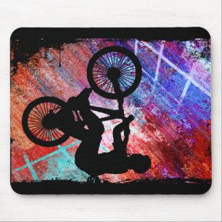 BMX on Rusty Grunge Mouse Pad
