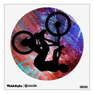 BMX on Rusty Grunge Wall Sticker