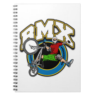 BMX One Handed Trick Spiral Notebooks