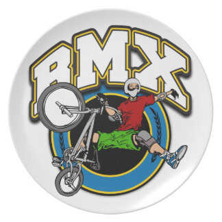BMX One Handed Trick Party Plates