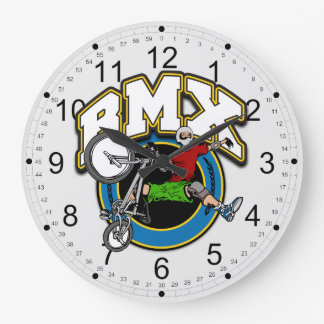 BMX One Handed Trick Wall Clocks