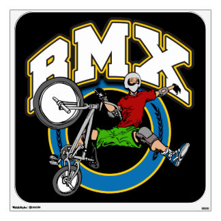 BMX One Handed Trick Wall Decal