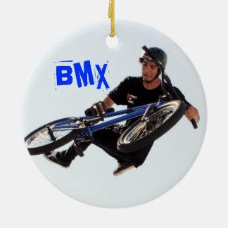 BMX Ornament, Copyright Karen J Williams Ceramic Ornament