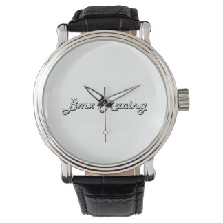 Bmx Racing Classic Retro Design Wrist Watch