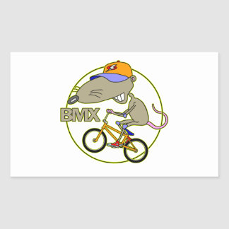 BMX Rat Rectangular Sticker