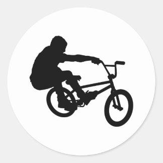 BMX Rider_3 Pegatina Redonda