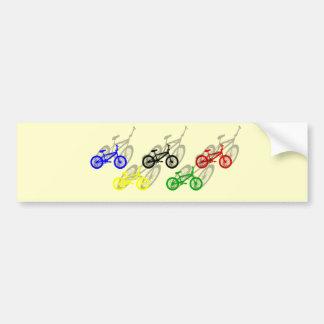 BMX rider bicyle cycling dirt track cyclist Bumper Sticker