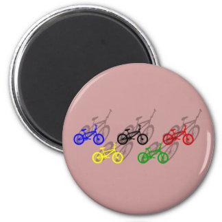 BMX rider bicyle cycling dirt track cyclist Refrigerator Magnets