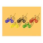 BMX rider bicyle cycling dirt track cyclist Post Card