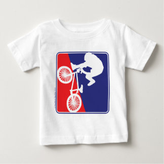 BMX Rider in Red White and Blue Baby T-Shirt
