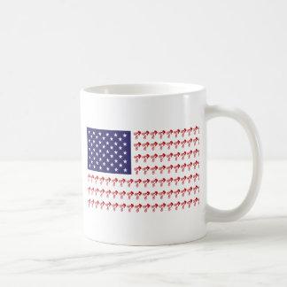 BMX Rider - Patriotic American Flag+ Coffee Mug