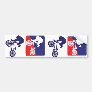 BMX Rider - Red White and Blue Car Bumper Sticker