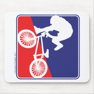 BMX Rider - Red White and Blue Mouse Pad