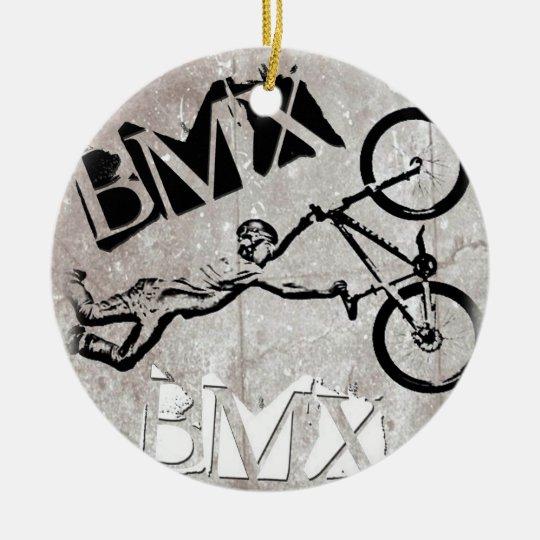 BMX Rules Christmas Ornament, Copyright Karen J Wi Ceramic Ornament