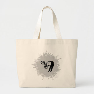 BMX Scribble Style Large Tote Bag