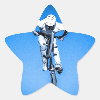bmx sports jumping championship tournament star sticker