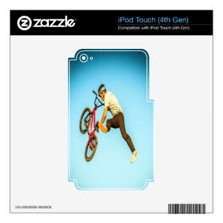 bmx sports jumping to happyness iPod touch 4G skin