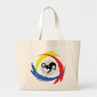 BMX Tricolor Emblem Large Tote Bag