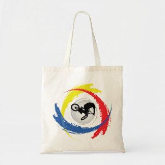 BMX Tricolor Emblem Tote Bag