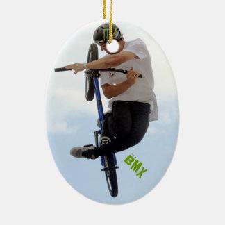 BMX Twisted, Copyright Karen J Williams Ceramic Ornament