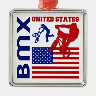 BMX United States Metal Ornament