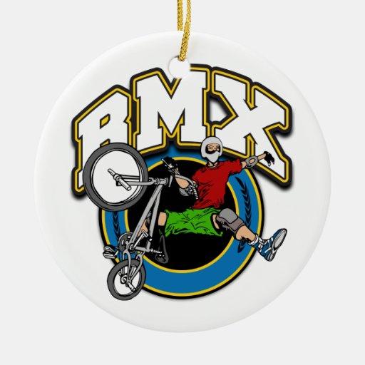 BMX uno dado truco Adorno Navideño Redondo De Cerámica