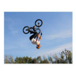 BMX Upside Down Flip Postcard