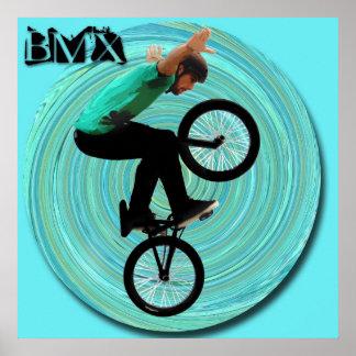 BMX Vortex, Copyright Karen J Williams Poster