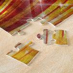 BMXers in Red and Orange Grunge Swirls Puzzles