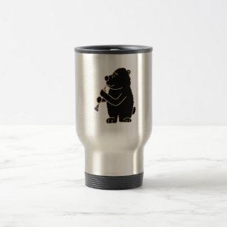 BN- Black Bear Playing the Clarinet Travel Mug