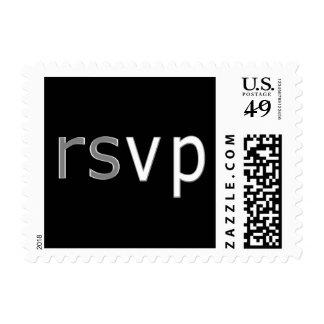 Bnai Mitvah silver black  rsvp Postage Stamp